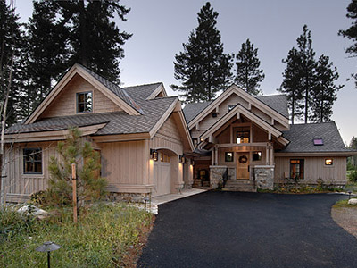 Hybrid timber-frame chalet on the Prospector 7th fairway